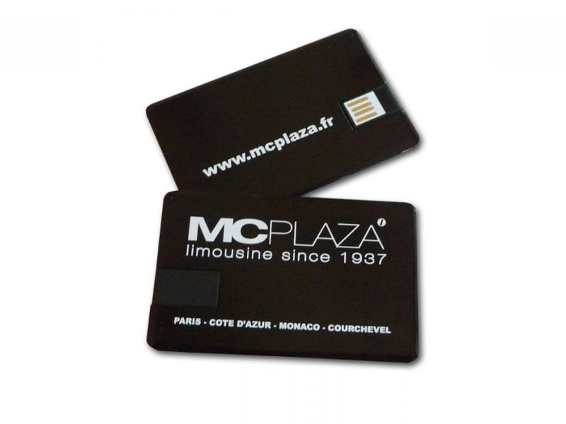 Cl USB Format Carte De Visite Alu