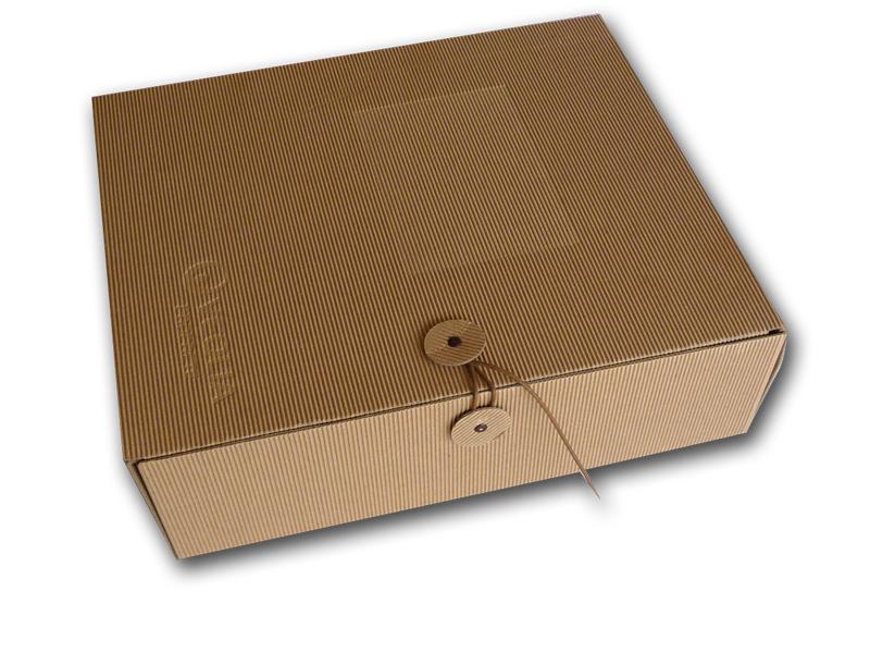 Coffret de pr sentation grand format carton cannelure cartons couch recycl rembord - Modele de boite en cartonnage ...