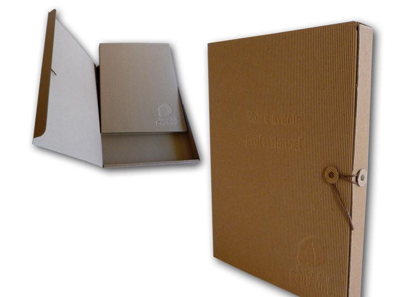 boite pour classeur en carton cannelure cartons couch recycl rembord cannelure. Black Bedroom Furniture Sets. Home Design Ideas