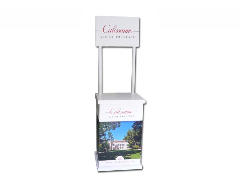 stand de d gustation avec fronton en carton cartons